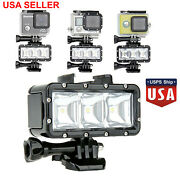 Waterproof Led Light Diving Lamp With Battery For Gopro Hero 9 8 7 6 5 4 3 2 Us