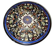 Round Marble Restaurant Table Top With Cottage Handicrafts Patio Dining Table