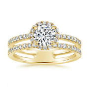 1.60 Carat Real Diamond Wedding Ring For Ladies Solid 14k Yellow Gold Size 7 8 9