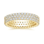 Solid 14k Yellow Gold Bands 1.66 Ct Round Diamond Ladies Engagement Band Size 6