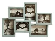 Multi Aperture Photo Picture Frames Holds 6 Photos Different Size