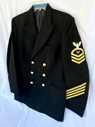 Usn Dinner Dress Uniform Us Navy Jacket W Gold Buttons 40 By Flying Cross