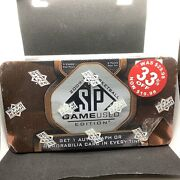 2009-10 Sp Game Used Basketball Sealed Tin Box Stephen Curry James Harden Auto