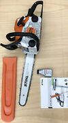 New Stihl Ms170 Chainsaw W/16 Bar, Tools, Scabbard , 2-cycle Oil And Manual
