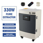 330w Fume Extractor 5 Stage Filter Air Purifier For Fiber Laser Engravers And More