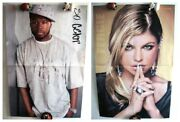 Curtis Jackson 50 Cent / Fergie Duhamel Two-sided Magazine Poster A3 16x11