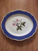 Chamberlains Worcester Massive Large 20.5and039and039 Inches Platter - Nice Flowers C1820
