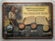 2009 Ultimate Lincoln Anniversary Cents The Formative Years 4 Coin Set Gem Mr