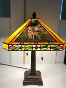 Rare Danbury Mint Mj Hummel Stained Glass Table Lamp Style