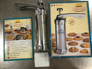 Marcato Classic Biscuit Maker Cookie Press, Made In Italy, Nob