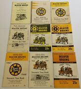 1960-70 North Battleford Beaver Bruins Official Hockey Yearbooks Lot Of 9 Rare