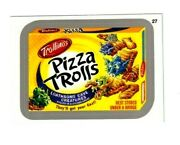 2013 Wacky Packages All New Series 11 Ans11 Silver Border Pizza Trolls 27.