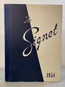 Vintage 1954 The Signet The Cecilian Academy Philadelphia Yearly Recap Book