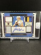 2020 Panini One Football Justin Herbert Rookie Patch Auto Rare Quad Patch /49 Sp