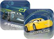 Disney Cars 3 Dessert Cake Plates Birthday Party Supplies 8 Per Package New