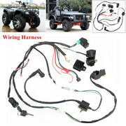 Atv Wiring Harness Loom Solenoid Coil Cdi Pit For Quad Dirt Bike 50/70/110/125cc