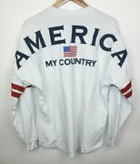 Spirit Jersey Ronald Reagan America My Country Long Sleeve Shirt Sz L Pre Owned