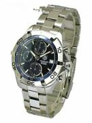 Tag Heuer Aqua Racer Caf2112 Date Chronograph Navy Automatic Menand039s Watch Rare