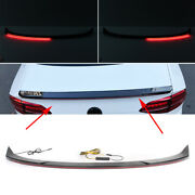 Streamer Rear Tail Car Trunk Spoiler Wing Lip Fit For Honda Accord 2018-2019 Abs