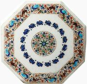 Hand Made Nature Art Inlay Patio Table Top Marquetry Art Marble Dining Table Top