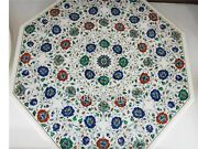 Gemstones Octagonal Dining Table Top Marble Reception Table From Vintage Crafts