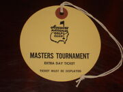 Vintage Rare Masters Ticket Extra Day Ticket Augusta National Golf Last One