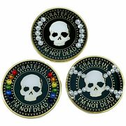 3 Pack Of Grateful Iand039m Not Dead Aa/na Crystallized Recovery Medallions