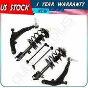 For 2003-2007 Nissan Murano 6pc Front Shocks Ball Joint Sway Bar End Link Kits