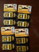 Lot Of 4 Post It Yellow Notarize Arrow Flags