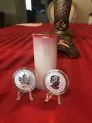 2016 Canada Maple Leaf Yin And Yang Privy Mark Roll Of 25 Oz Minted Only 50k Rare