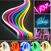 Usa 10pack 5m 12v Flexible Led Strip Waterproof Sign Neon Lights Silicone Tube