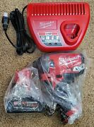New Milwaukee 2553-20 M12 Fuel 1/4 Impact Driver + 4.0ah Battery Charger Kit