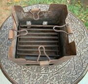 Antique Iron Hand Forged Indian Coal Heater / Oven / Angeethi / Gas Stove Chulha