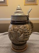 Vintage 1977 Avon Beer Stein Tall Ships Handcrafted Brazil