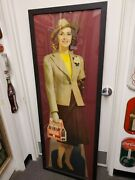 1940 Full-size Coca-cola Stand-up Cardboard In Frame Pg 155 Petretti's 12th Ed.