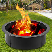 42 Steel Fire Pit Liner Ring Heavy Duty Above Or In-ground Wood Burning Outdoor