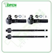 4x Front Inner Outer Tie Rod End Links For 2006-2011 Cadillac Dts Buick Lucerne