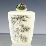 Vintage To Antique Erotic Chinese Snuff Perfume Bottle Hand Carved Bovine Bone