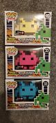 Funko Pop 8-bit - Space Invaders - Gamestop Excl - Pink Blue And Yellow Lot