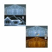 Toodour 360 Led Christmas Icicle Lights White And 2 In 1 Color Changing Led C...