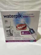 Brand New Sealed Waterpik Whitening Water Flosser +120 Tablets Clinically Proven
