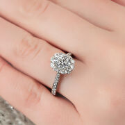 Real 1.00 Ct Round Diamond Anniversary Ring Solid 950 Platinum Rings Size 5 6 7