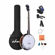 Adm 5-string Banjo 24 Bracket With Closed Solid Wood Back And Geared 5th Tune...