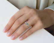 Real 0.70 Ct Diamond Wedding Ring For Ladies Solid 950 Platinum Rings Size 6 7 8