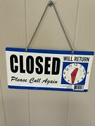 Business Open/closed Double Sided Hanging Sign Return Clock Chain Hanger