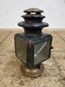 1913 - 1914 Ford Model T Black And Brass Victor Lamp Co Model - 2 Cowl Light Body