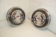 1963 1964 Oldsmobile Olds Nos Poverty Dog Dish Hubcaps/wheel Covers Original Gm