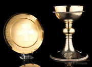 Vintage Spanish Hammered Solid-silver Chalice. Spain, 1970s