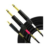 Mogami Gold 3.5-2ts-10 Stereo Audio Y-adapter Cable, 3.5mm Trs Plug To Dual 1...