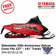 Yamaha Oem Sidewinder 50th Rd/blk Deluxe Snowmobile Cover Fits 137-141 Tracks